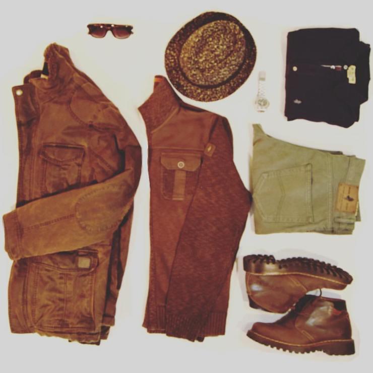 flatlay, grid, outfit, menswear