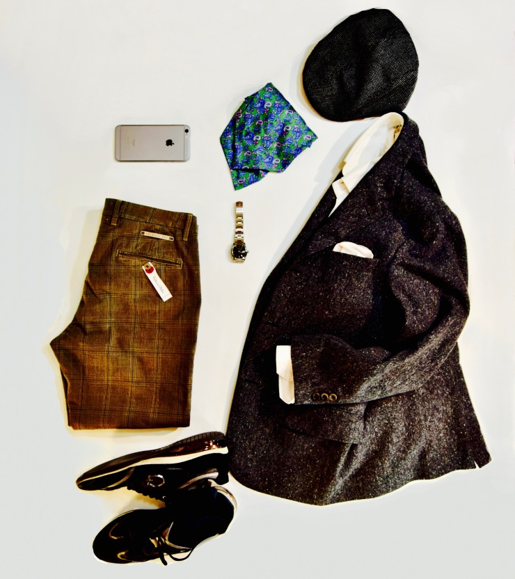 flat lay, grid, outfit