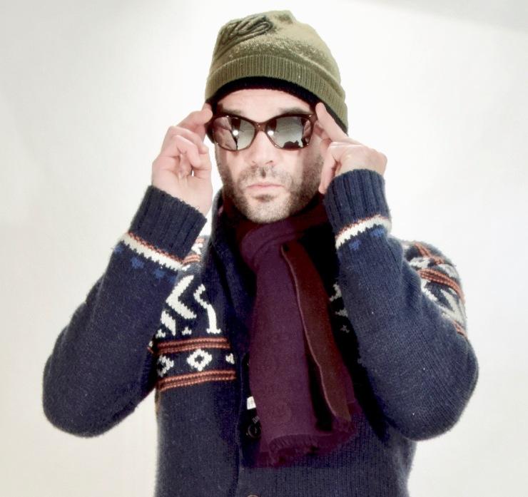 bollé, c&a, cerruti, scarf, sweater