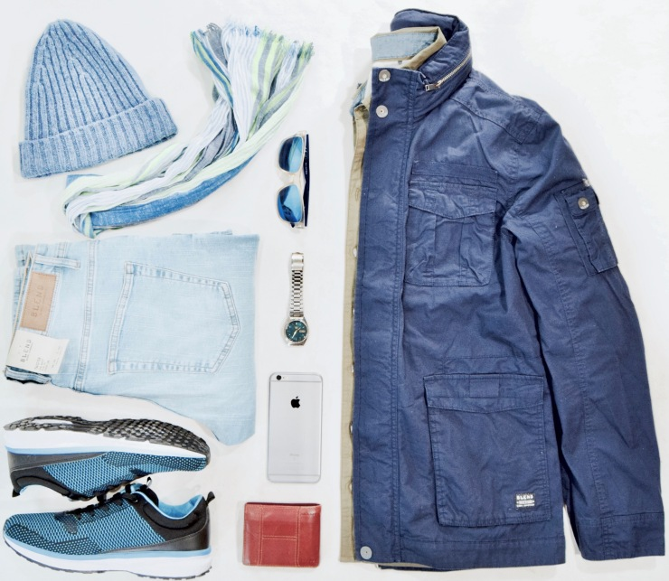 grid, flatlay, seiko, wristwatch, sunglasses, wallet, iphone, hat, sneakers, scarf,