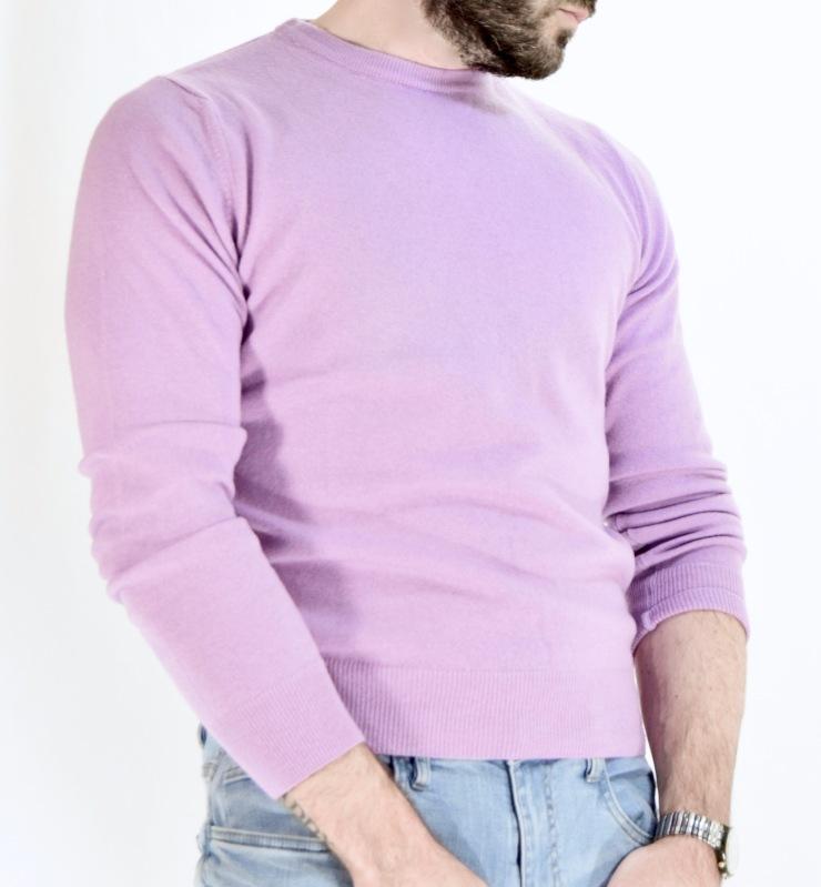 style, cashmere, sweater, john cravatta, jeans, swatch, beard, lilac, plum, fashionblogger,