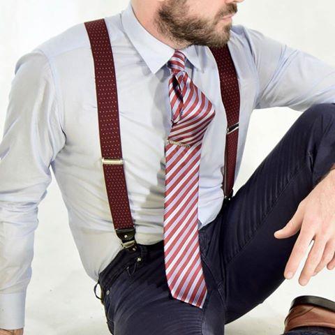 braces, suspenders, necktie, john cravatta, fashioblogger, beard,