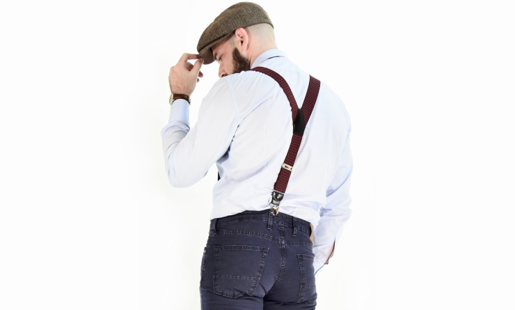 gentleman, braces, suspenders, shirt, trousers, jeans, 40, fashionblogger